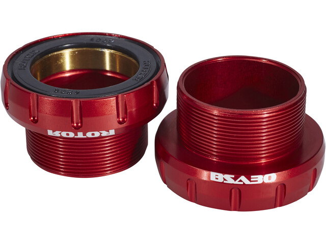Rotor BSA30 Road/MTB Krankboks 68/73mm keramisk, red